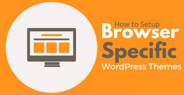 How to Setup Browser Specific WordPress Themes to Your Blog Visitors