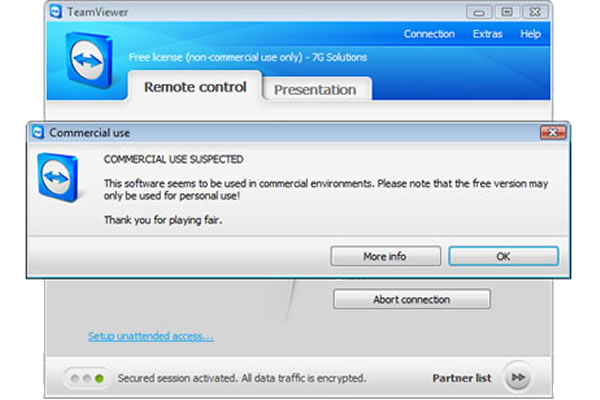 Stop Showing Teamviewer's Commercial Use Suspected Warning