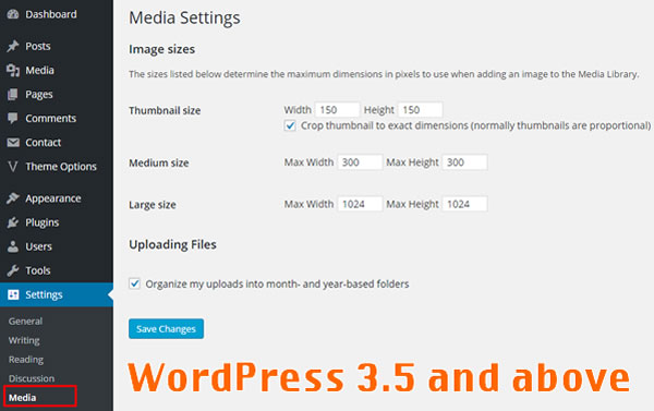 WordPress 3.5 and Above Versions